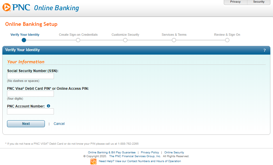 pnc bank online enrollment