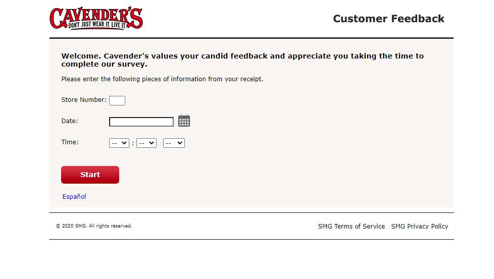 cavenders survey guide