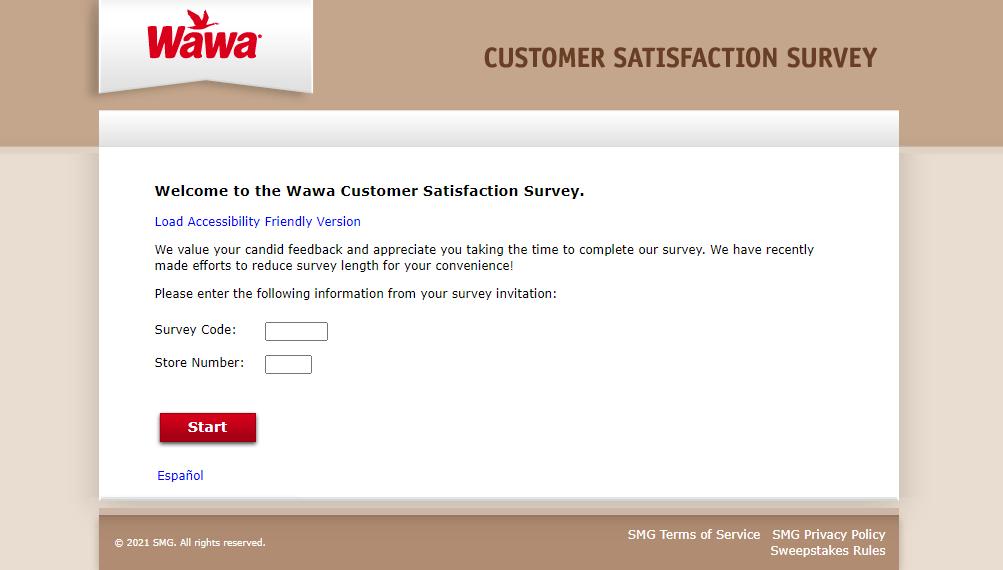wawa visit survey
