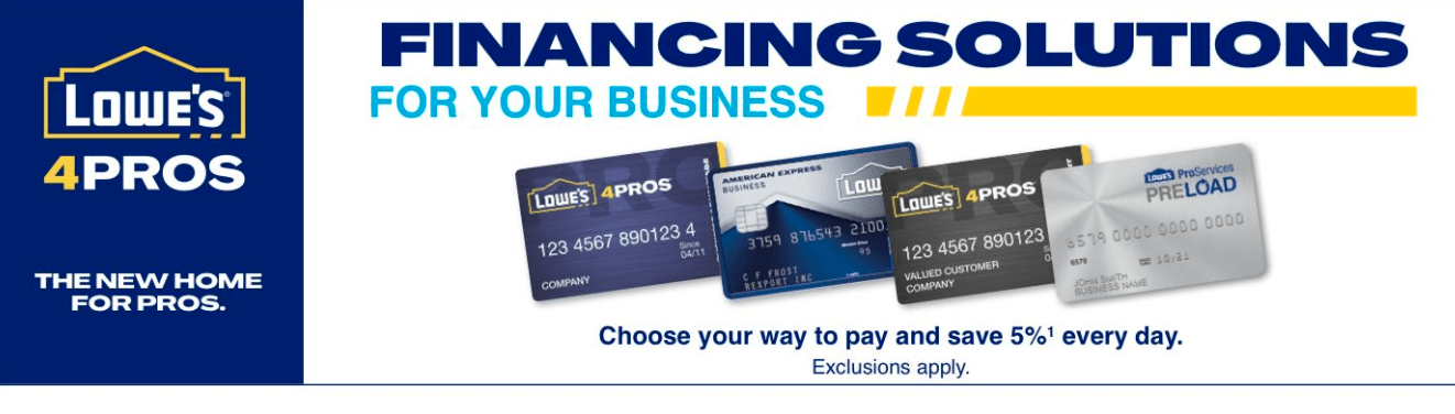 lowes credit cards