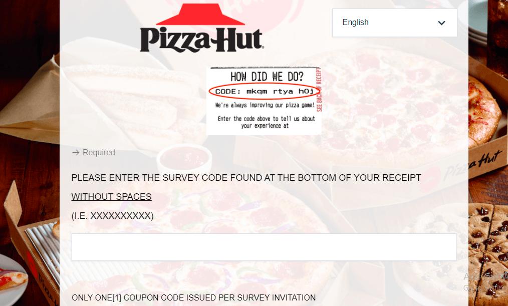 tellpizzahut.com survey